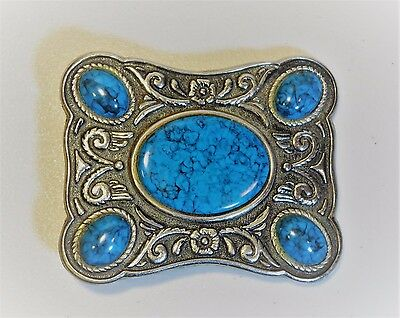 BELT BUCKLE - with TURQUOISE decoration