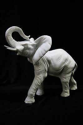 "8"" Lucky Wild White Elephant Italian Statue Vittoria Collection Made in Italy"