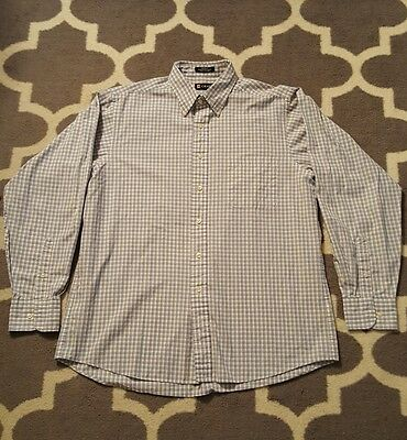CHAPS Men's Plaid Classic Fit Long sleeve Dress shirt 16 - 16 1/2  34-35