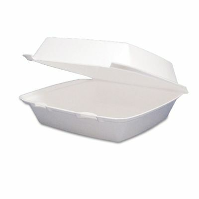 Dart Takeout Foam Clamshell Food Containers  - DCC85HT1R