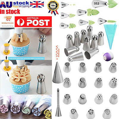 7/9/15/24/32/52Pcs DIY Russian Icing Piping Nozzle Cake Flower Decor Tips Tools