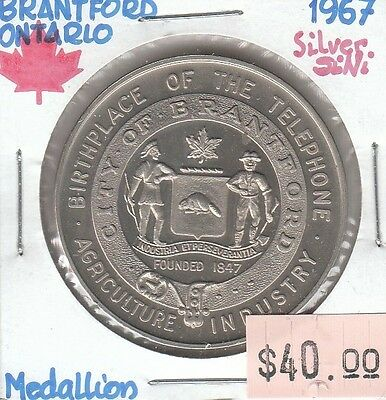 Brantford Ontario Canada Medallion 1967 - Lot ii