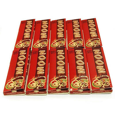 Moon NEW Cigarette Tobacco Rolling Papers 70*36mm 10 Booklets=500 leaves smoking