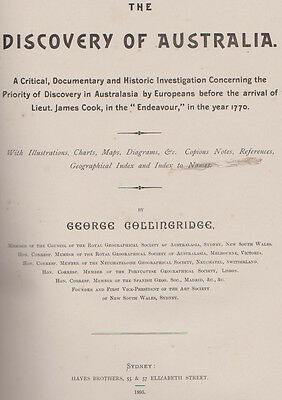 The Discovery of Australia by COLLINGRIDGE, G.
