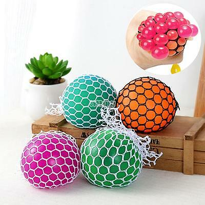 AU NEW BEST COOL FUN HOT Anti-Stress Squishy Mesh Ball Grape Squeeze Sensory Toy