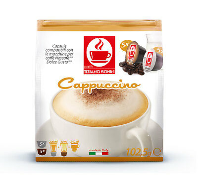 Dolce Gusto Compatible Coffee Pods Capsules 10 Pack. CAPPUCCINO