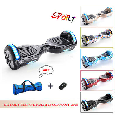 2 Wheels Self Balancing Scooter Swegway Electric Balance Board Bluetooth+ Led