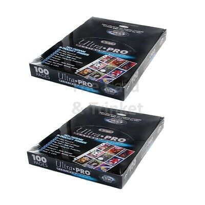 ULTRA PRO 9-Pocket Platinum Trading Card Pages 2X Sealed Boxes 200 Sheets NEW