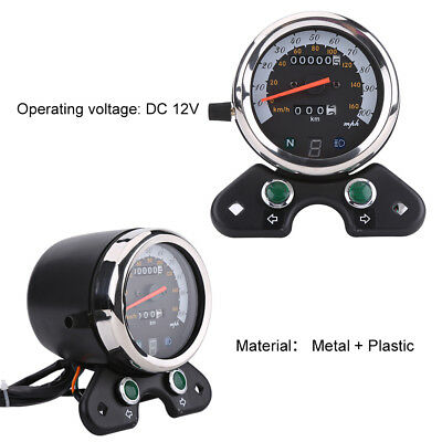 Universal Motorcycle Dual Odometer Speedometer Speedo Meter Gear Digital Display