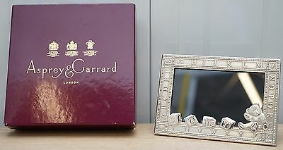 Lovely Brand New And Boxed Asprey London Sterling Silver Childrens Picture Frame