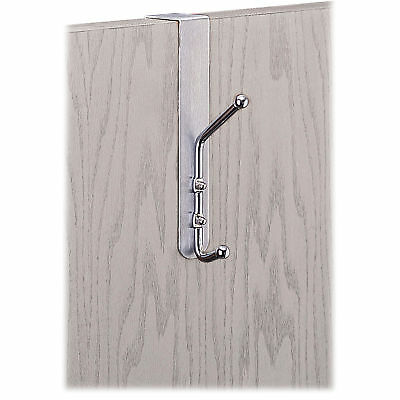 Safco Over-The-Door Double Coat Hook, Chrome-Plated Steel, Satin - SAF4166