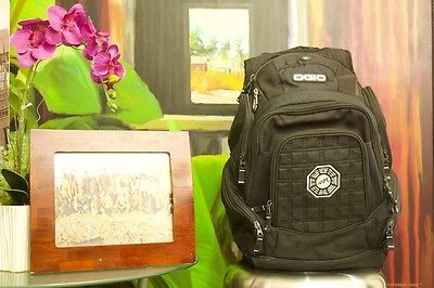 OGIO custom backpack from cast of the LOST TV Show with Dharma Logo