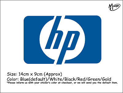 HP  LOGO Wall Stickers 14cmx9cm Reflective Decal IT Business Signs Best Gift