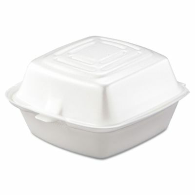 Dart Takeout Foam Clamshell Food Containers - DCC50HT1