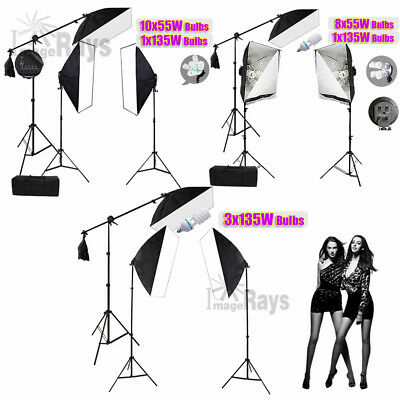 Photography Softbox Lighting PHOTO Softbox Boom Arm Light Stand Kit Best Studio