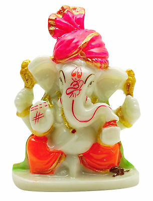 Lord Ganesha Religious Décor Statue Poly Resin Office Car Dashboard Figurine