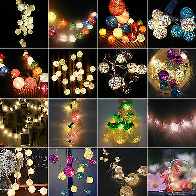 LED Battery Operated Fairy Lights String Christmas Party Wedding Xmas Patio Lamp