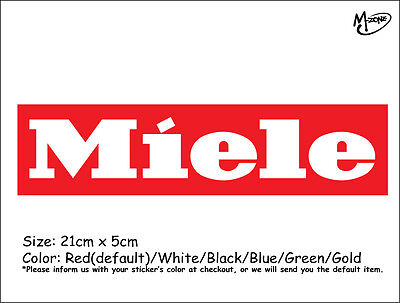 Miele Logo  Wall Stickers 21cm Reflective Decal Appliance Business Signs Gift