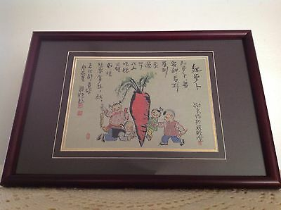 Beautiful Framed And Boxed Chinese Fabric Art Embroidery?