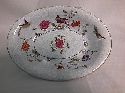 "Crown China Birds of Paradise Pattern #592627  9"" Oval Vegetable Serving Dish"