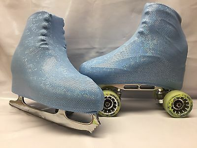 Pale Blue Holo Boot Covers for RollerSkates and Ice Skates  S,M,L
