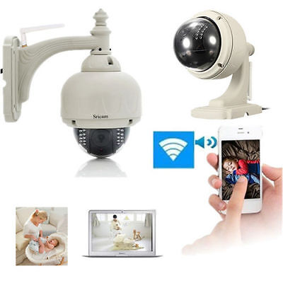 New Wireless IP Camera PT Dome IR Night Vision WiFi IR-Cut Outdoor Security CD7