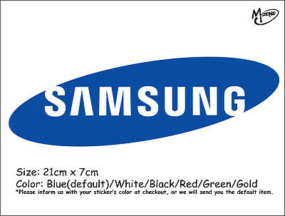 SAMSUNG Logo  Wall Stickers 21cm Reflective Decal IT Business Signs Best Gift
