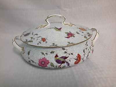 Crown China Birds of Paradise Pattern #592627 Casserole With Lid