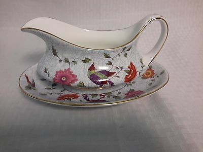 Crown China Birds of Paradise Pattern #592627 Gravy Boat