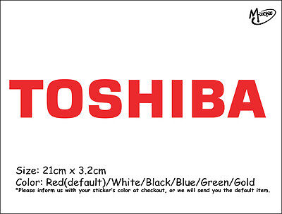 TOSHIBA Logo  Wall Stickers 21cm Reflective Decal IT Business Signs Best Gift