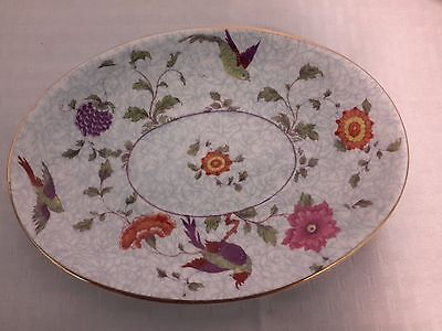 "Crown China Birds of Paradise Pattern #592627 11.5 "" Oval Serving Platter"