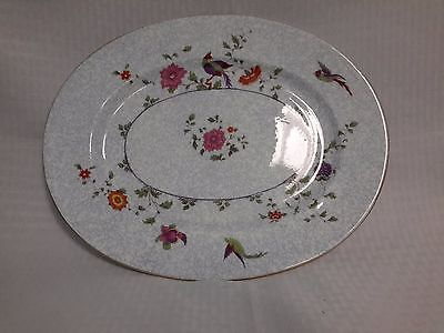 "Crown China Birds of Paradise Pattern #592627 13.5"" Oval Platter"