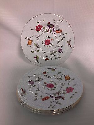 Crown China Birds of Paradise Pattern #592627 Salad Plates set of 4