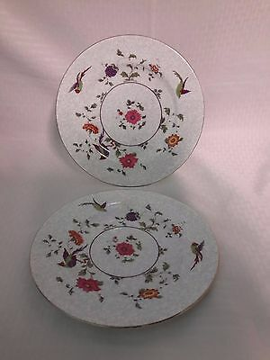 Crown China Birds of Paradise Pattern #592627 Lunch Plates Set of 2
