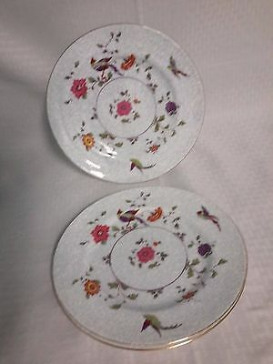 Crown China Birds of Paradise Pattern #592627 Lunch Plates Set of 3