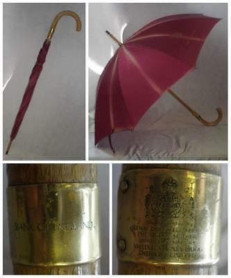 "Antique Swaine, Adeney & Brigg- Bank of England Umbrella-""H M Queen Elizabeth"""
