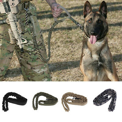 Outdoor Puppy Dog Training Walk Military Tactical Leash Elastic Bungee Strap