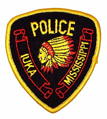 IUKA MISSISSIPPI MS Police Sheriff Patch INDIAN NATIVE AMERICAN VINTAGE OLD MESH