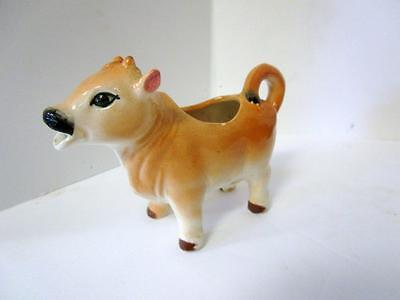 Vintage Ceramic Light Bown Cow Creamer - Japan