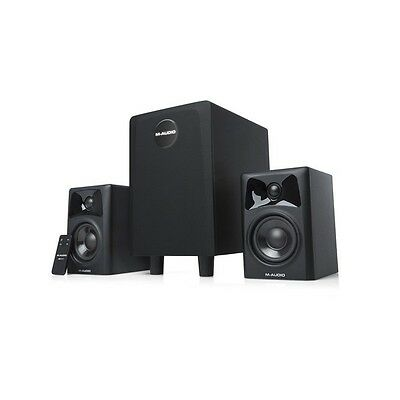 M-Audio AV32.1 Computer TV Music Speaker Subwoofer 2.1 Sound System Inc Warranty