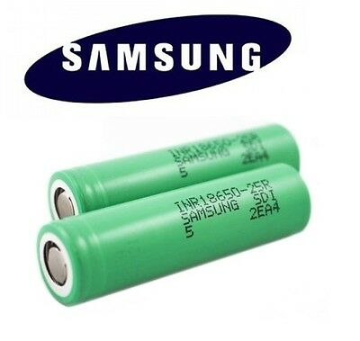 2 x Genuine SAMSUNG Battery 25R INR IMR 18650 Rrchargable 3.7V 2500mAh 20 35A