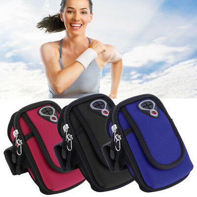 Waterproof Sport Arm Band Holder Pouch Case Earphone Hole For 5.5 Cellphone PT