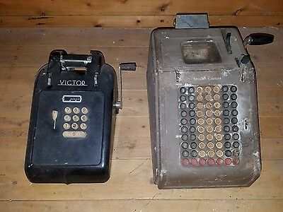 Vintage Smith Corona and Victor adding machines