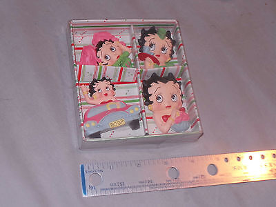 vintage Vandor Betty Boop Collectible 4 Refrigerator Magnet Set New in the box