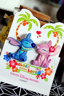 2x Disney Fridge Magnets Whiteboard Magnet Paper Clip Stitch & Angel BNWT Cute