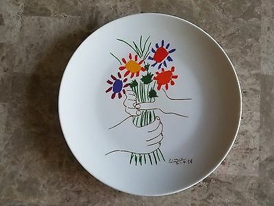 Pablo Picasso Original Signed Ceramic Porcelain Plate Plaque Succession