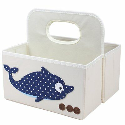 """Nursery Organizer Caddy with Handle 11""""x9.8""""x6.3"""" ANG Collapsible Storage Caddy"""