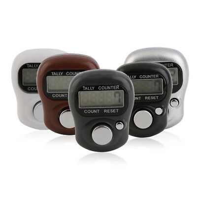 Mini Digit LCD Electronic Digital Golf Finger Hand Held Tally Row Counter PT