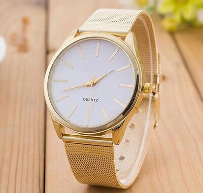 Women's Watch Gold Mesh Crystal