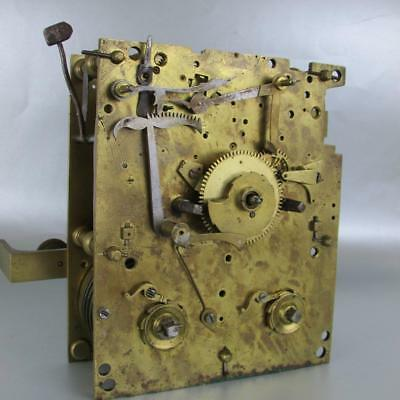 EARLY FUSEE BRACKET CLOCK MOVEMENT superb  engraved backplate WAS VERGE 5 pillar